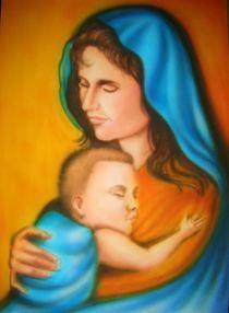 Maria mit dem Kinde von Norbert Pilz