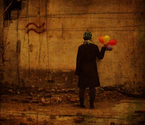 Girl with baloons by Evita Knospina