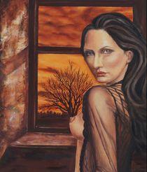 Frau am Fenster von Hilke Mueller