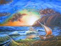 Bucht mit Boot by Hilke Mueller