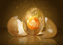 Egg Planet by alfoart
