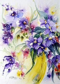 Clematis in violett by Christl Benkmann