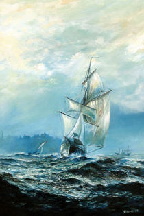 Working boat von Arthur Williams