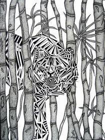 Ein Tiger im Bambuswald von Wolfgang Leng