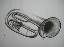 Trompete abstrakt von Katja Finke