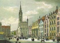 Historische Stadtansicht - Danzig um 1850 by pointone
