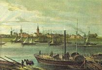 Stadtansicht Duisburg Ruhrort 1850 by pointone