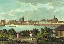 Historische Stadtansicht - Magdeburg um 1835 von pointone