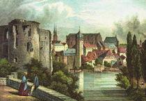 Historische Stadtansicht - Moritzburg bei Halle von pointone