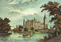 Schloss Schwerin  -  Historische Stadtansicht by pointone