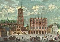 Historische Stadtansicht - Stralsund Marktplatz  by pointone