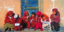Bergdorfkinder beim Schulunterricht  von malatelierstuke