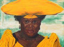 Afrikanerin in Festtagsrobe von malatelierstuke