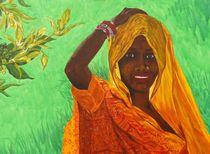 Inderin im Sari von malatelierstuke