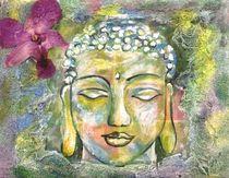 Buddha mit Orchidee von malatelierstuke
