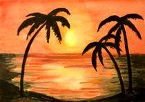 Sonnenuntergang unter Palmen by malatelierstuke