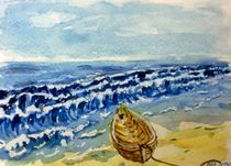 Verlassenes Boot am Strand von malatelierstuke