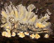 Liegender Buddha in Grotte by malatelierstuke