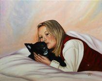 Kinderportrait mit Hündchen Sissi von pjb-art