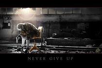 never give up von Tina Borggraefe-Eichler