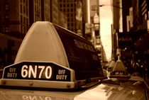 Mit dem Taxi durch New York !Sepia Rokkkka! von lingiarts