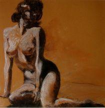 weiblicher Akt sitzend ,sienna by Birgit Summa