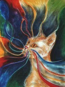 Transzendenz  (Zyklus: Traumfäden - Regenbogenkatzen) von Andrea Dejon
