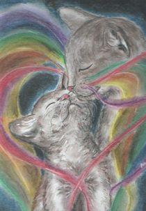 Mutterliebe (Zyklus: Traumfäden - Regenbogenkatzen) von Andrea Dejon