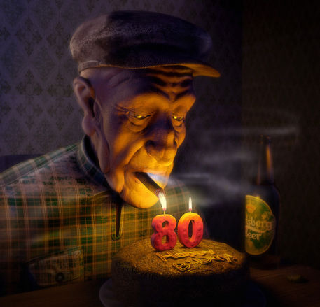 Candle-liet-old-man-bday
