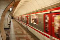 U-Bahn in Prag von Norbert Fenske