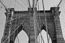 Brooklyn Bridge B&W von Ian C Whitworth