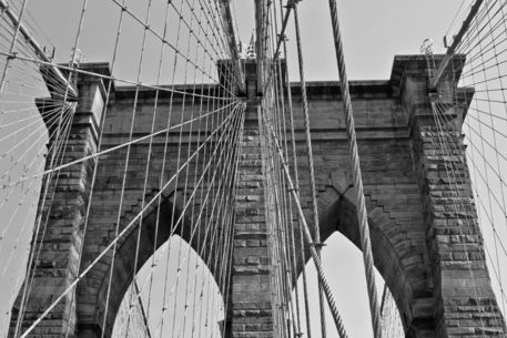 New-york-city-brooklyn-bridge-b-w