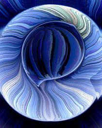 Blautöne von regenbogenfloh