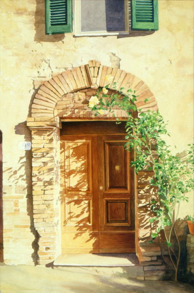 Tuscan-doorway-no1-faa & A Doorway in Tuscany no1\