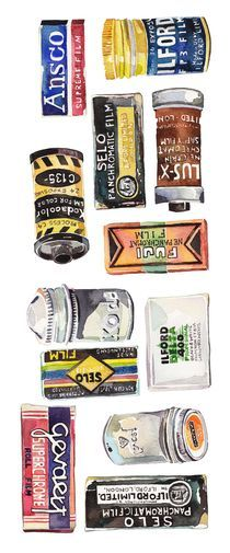 Vintage Film Canisters von Holly Exley