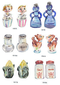Salt and Pepper Shakers von Holly Exley