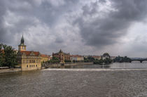 The River Vltava, Prague by Len Bage