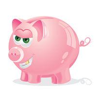 Evil Piggy Bank von Jasmina Stanojevic