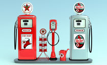 1950's Texaco Gas Pump Island von Graham Hughes