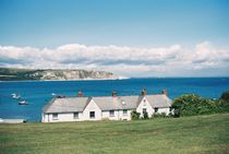 Cottages at Swanage by Helen Way