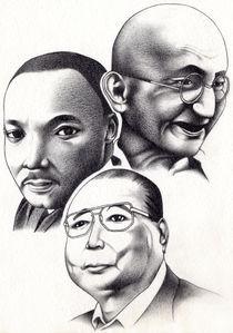 Gandhi. King. Ikeda ~ A Legacy of Building Peace von weerock