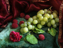 Rose and grape by Inna Merkish