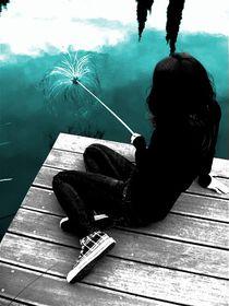 Enjoy the blue site of life  by Melanie Codea