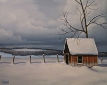 Winter Cabin by John Venske