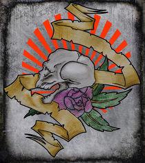 grunge skull by luke daniels