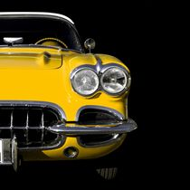 Classic Car (yellow) von Beate Gube