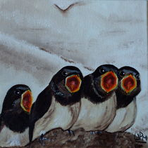 Baby swallows von Wendy Mitchell