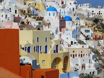 Oia auf Santorini, Insel der Kykladen by Almut Rother
