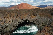 Lanzarote, Vulkanlandschaft Los Hervideros von Frank Rother