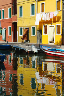 Burano in der Lagune von Venedig by Frank Rother